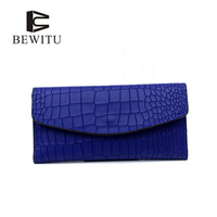 BEWITU Black Cover Coin Purse Long Women S Wallet PU Leather Brand Woman Purse Promotion Card
