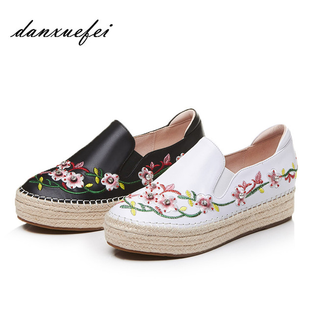 Low Heel Leisure Espadrille Flower Embroidery Slides - BEIGE Cheap Sale For Nice Outlet View Sale Hot Sale Outlet Buy Sale Great Deals 9Jykb8