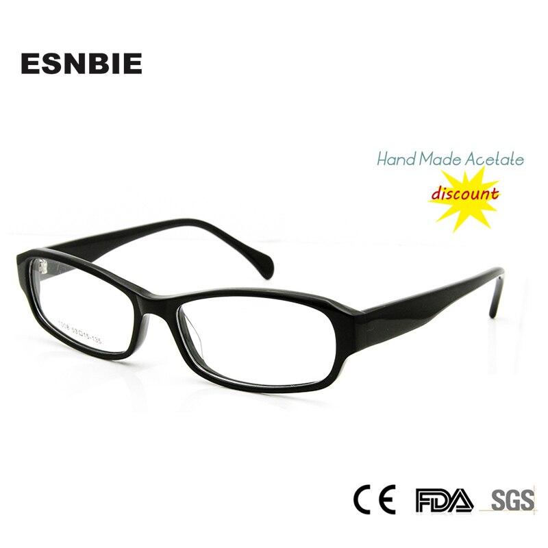 15bfe8196 ESNBIE Barato Óculos Claros Mulheres Feito À Mão Acetato Prescrição Eyewear  armacao de oculos Armação de óculos Feminino feminina