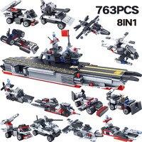 Designer Ocean Battleship Compatible LegoINGLYS Military Figures War Building Blocks Bricks Set Educational Enlighten Toys
