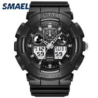 SMAEL Watch Men Luxury Sport Watches Shock Waterproof Chronograph Military Wrist Watch 1027 Men Watches Balck Digital Male Clock|Quartz Watches|Watches -