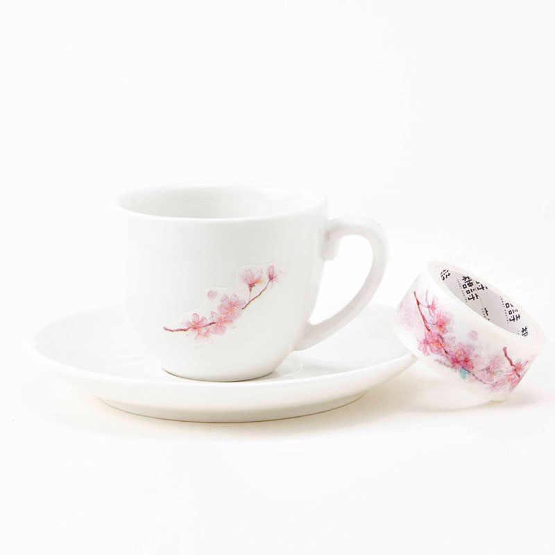 2 см * 5 м свежий Сакура Cherry маскирования Клейкие ленты альбом Скрапбукинг Декор Васи Клейкие ленты питания школьные принадлежности ярлыком