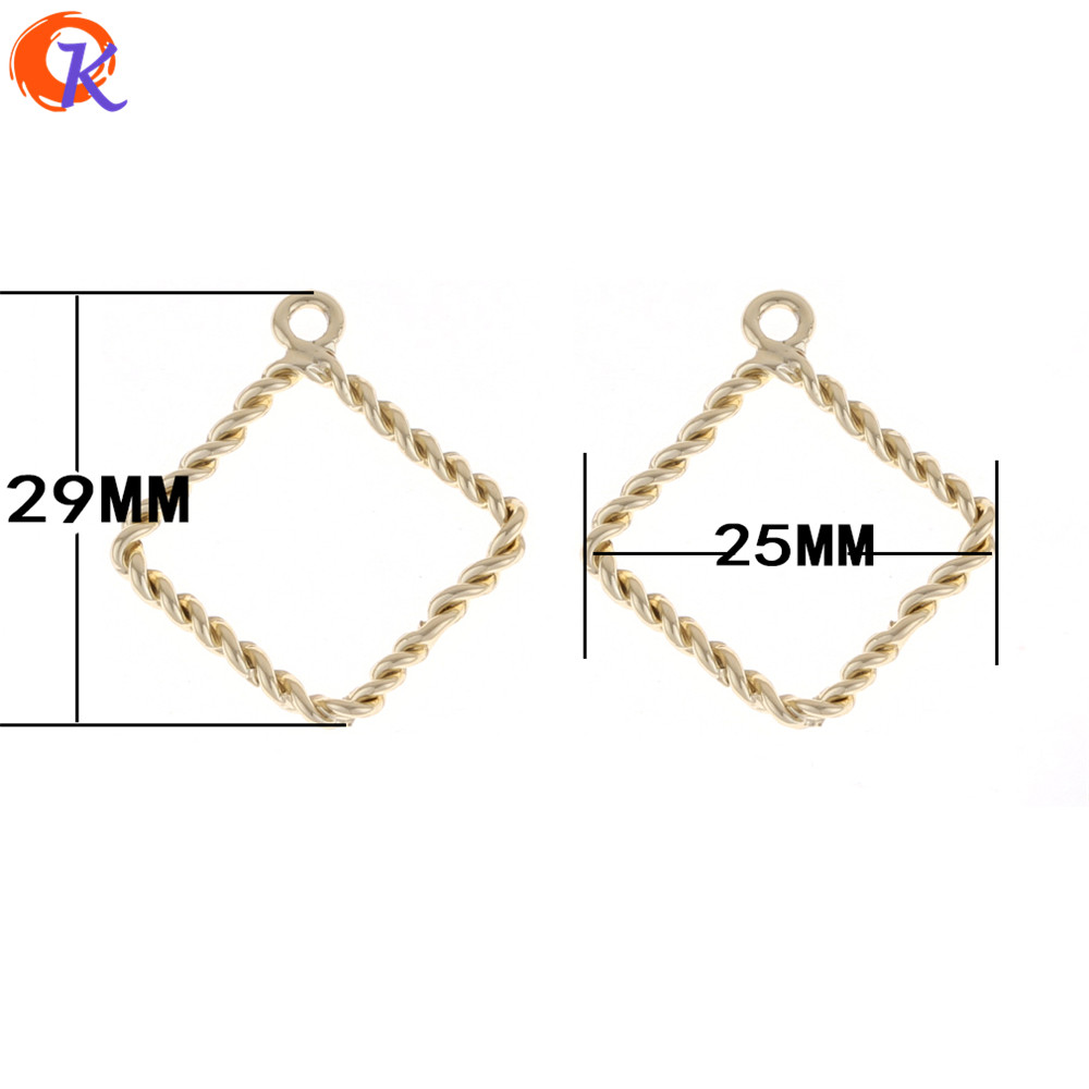 Cordial Design 100Pcs 25*25MM Earring Findings/Hand Made/Gold Square Shape/Jewelry Parts/Earring Making/Jewelry Accessories