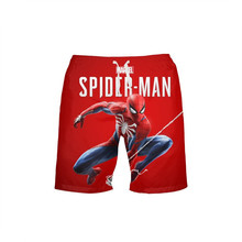 VEEVAN Men's Beach Shorts Marvel Super Hero Spiderman 3D Printing Casual Quick-dry
