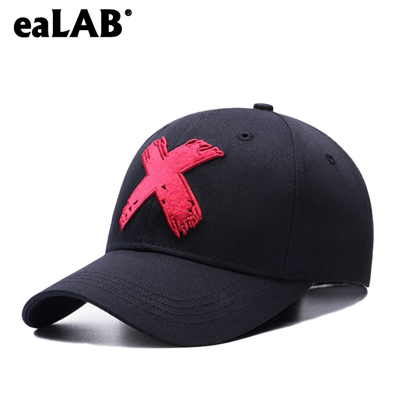 eaLAB Baseball Cap Men Dad Hat Summer Women Casual Embroidery X Cap Adult Adjustable Cotton Bone Cap Hip Hop Snapback Hat letter embroidery dad hats hip hop baseball caps snapback trucker cap casual summer women men black hat adjustable korean style