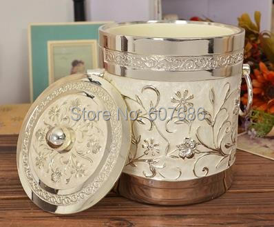 Vintage Ice Bucket Home Bar Pub Bistro Silvery White Metal Ice Bucket Home Party Accessory Free