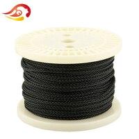 QYFANG 50 м 8 Core высокой чистоты кислорода наушники обновления кабель Серебряный Фольга DIY Hi Fi стерео Динамик шнура наушников ремонт провода лин