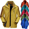 Thickening Winter Jacket Men Warm Parka Coats Outerwear+Fleece Liner 2PCS Snow Windbreaker Waterproof Windproof Male L~5XL CF007