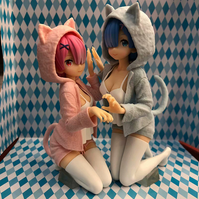 Anime Re:Life In A Different World From Zero Action Figure 1/8 scale Nyanko Mode figure Toys no retail box (Chinese Version) 4