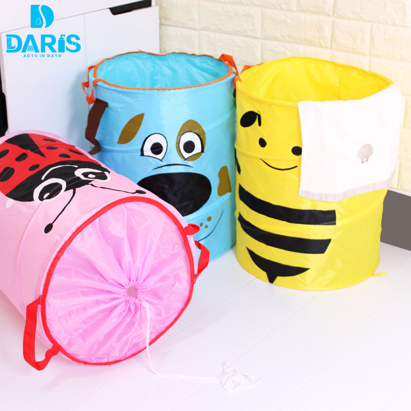 Cute Animal Collapsible Toy Storage Organizer Folding: Laundry Basket Children Cute Animal Folding Laundry Basket