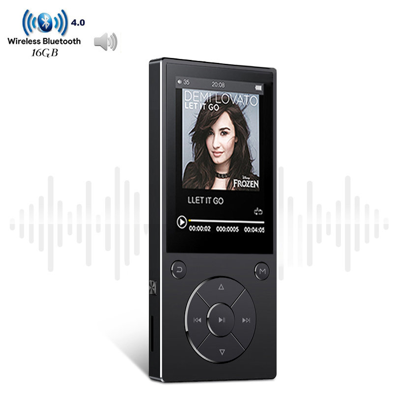 Original HIFI Lossless Music MP3 Player With Bluetooth 2.4 TFT Color Screen Built-in Speaker MP3 Support TF Card Up To 128G havit® hv m6 wireless bluetooth 4 0 nfc sports speaker with built in microphone support tf card 3 5mm audio external connect up to 6 hours music playing easter day special page 7