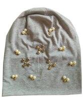 B-17910 Мода 100% хлопок хорошие эластичные цвета жемчуга и кристаллов шапочки металлик панк шляпу дизайн пользовательского