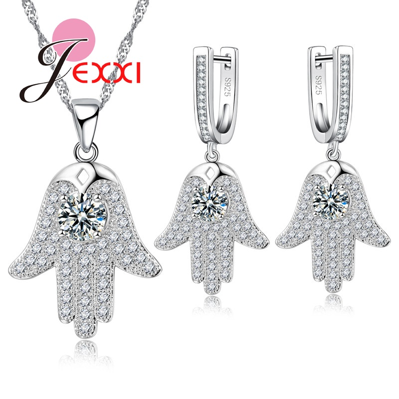 Jemmin Elegance Tree Design Jewelry Set For Women Lady S925 Silver And Clear White Rhinestone Decorations Earrings+NecklaceJemmin Elegance Tree Design Jewelry Set For Women Lady S925 Silver And Clear White Rhinestone Decorations Earrings+Necklace