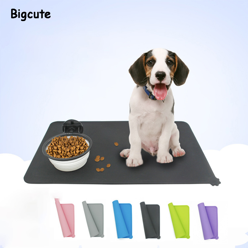 New Waterproof Pet Eat Food Mat for Dog Cat Silicone Pad Bowl Drinking Feeding Placemat Easy Washing