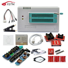 مبرمج جديد أصلي V8.51 TL866II Plus Universal Minipro + 28 محول + مشبك اختبار TL866 PIC Bios مبرمج عالي السرعة