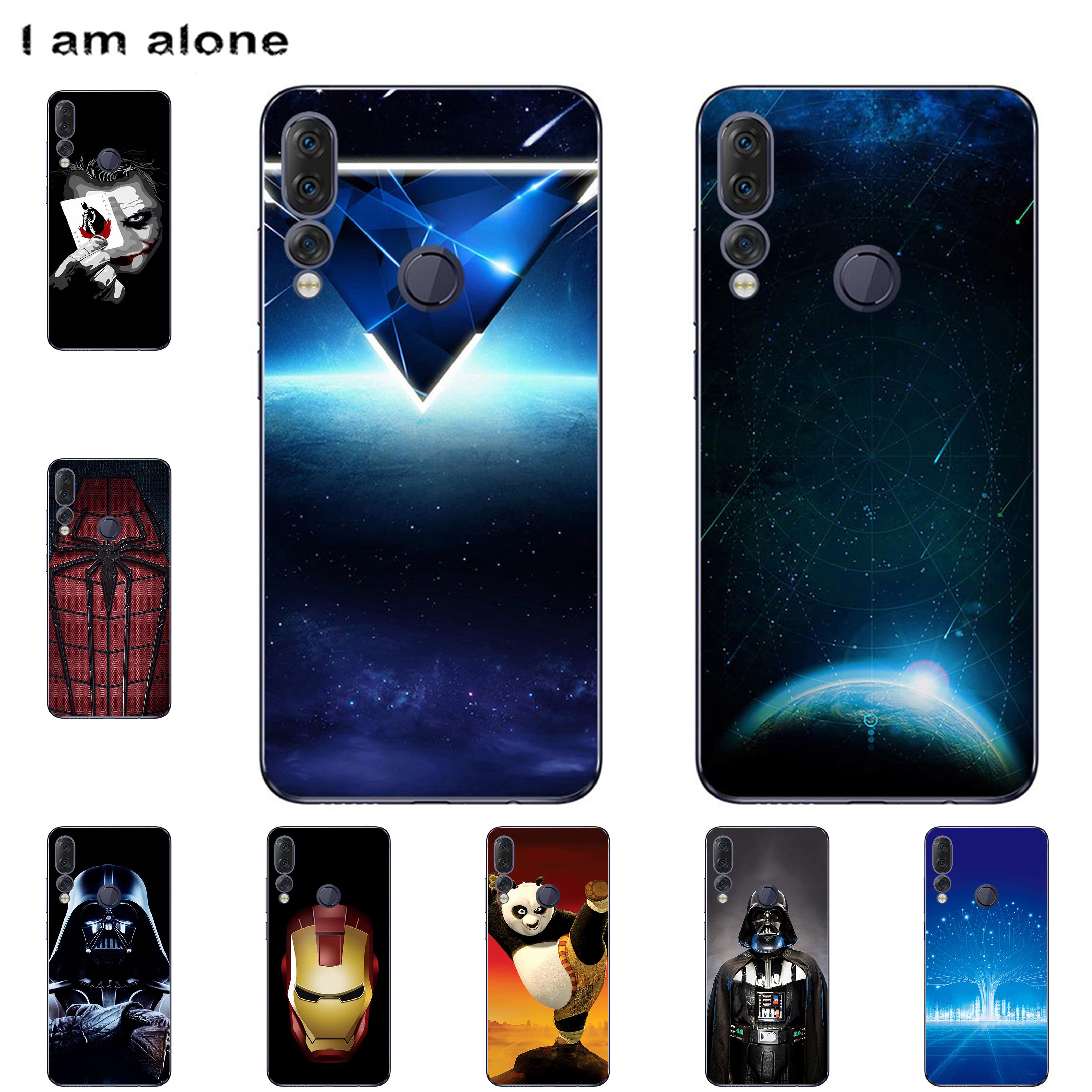 I Am Alone Phone Bags For Lenovo Z5 /Z5S 2018 Solf TPU Fashion Color Mobile Cases For Lenovo Z5S 2018 Cover Shipping Free