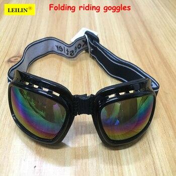 422b1eeb9d Leilin plegable gafas protectoras esponja cómodo marco ciclismo gafas  anti-uv anti-choque trabajo gafas de seguridad