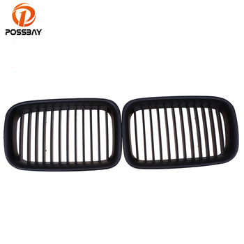 POSSBAY Car Sport Grille Grill Vents Front Hoods Kidney for BMW 3-Series E36 M3 Cabrio 320i/323i/325i 1994-1995 Pre-facelift