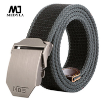 Treasure Map Ultra Long 140 Canvas Belt Man Automatic Buckle Strap Casual Knitted Belt