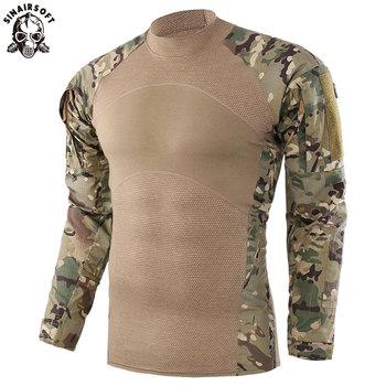 SINAIRSOFT US mundur wojskowy taktyczny T koszula z długim rękawem bawełna generacja III koszula bojowa żaba mężczyźni koszulki treningowe tanie i dobre opinie Pasuje prawda na wymiar weź swój normalny rozmiar Torso (100 Cotton) Sleeve (65 Polyester 35 Cotton) LY0309 Camouflage