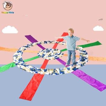 Children Games Colorful Big Wheel Educational Outdoor Sports Toys Fun Cloth Umbrella Parachute Ballute Kindergarten Kids
