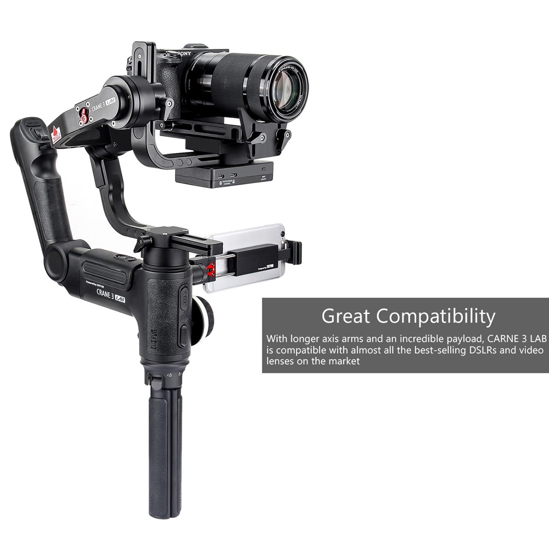 DHL Zhiyun Crane 3 LAB 3-axis Handheld Gimbal DSLR Camera stabilizer for Sony A7M3 A7R3 Canon 6D 5D Panasonic GH4 GH5 Nikon D850 2
