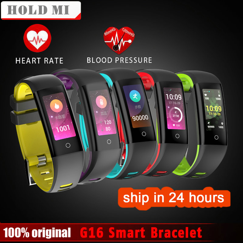 Hold Mi G16 0.96inch Color Screen Blood Pressure Heart Rate Monitor Smartwatch Smart Watch Wristband for iOS Android VS MiBand 2