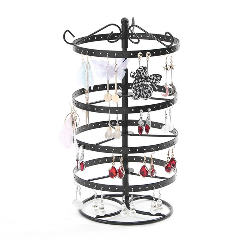 Multifunctional Metal Necklace Chain Bracelet Rotation Holder Detachable Earring Jewelry Display Stand Rack Hanger