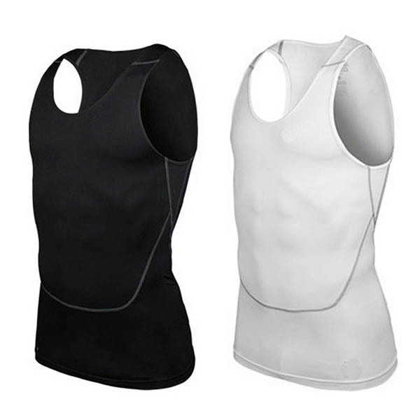 2019 New Arrivals Men Summer Tank Top Bodybuilding Sleeveless Casual Compression Shirts Fitness Breathable Tank Tops Quick Dry