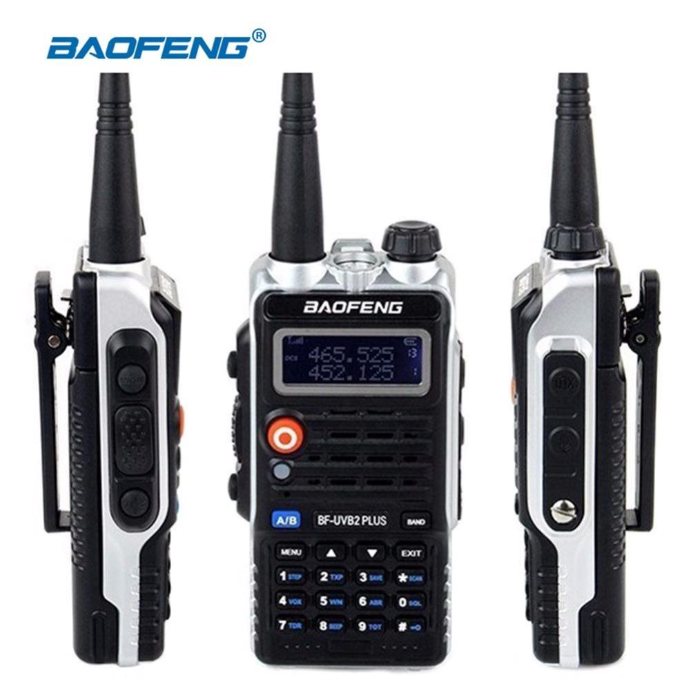 1 piezas $TERM impacto Baofeng Walkie Talkie BF-UVB2PLUS VHF/UHF de banda Dual DCS jamón dos vías transceptor