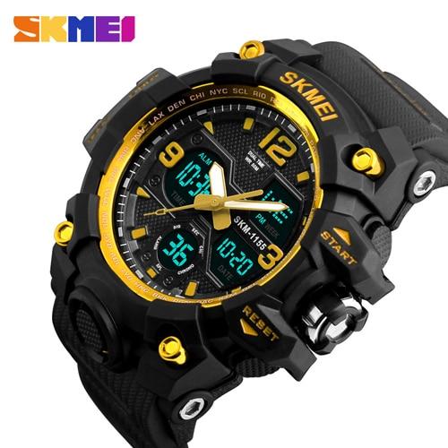 SKMEI Fashion Sport Watch Men Quartz Digital LED Electronic Watch Male Clock Waterproof Military Wristwatches Relogio Masculino