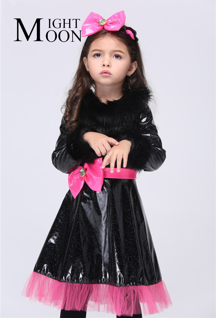 MOONIGHT Kids Carnival Party Outfit Catgirl Cosplay Costumes Halloween Performance Girl Costumes Vestido Tutu Dress