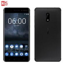 هاتف نوكيا 6 LTE 4G غير مقفول موديل 2017 يعمل بنظام أندرويد 7 كوالكوم ثماني النواة 5.5 بوصة ببصمة الإصبع وذاكرة وصول عشوائي 4G وذاكرة قراءة فقط 64G 3000mAh وبدقة 16 ميجابكسل وnokia6