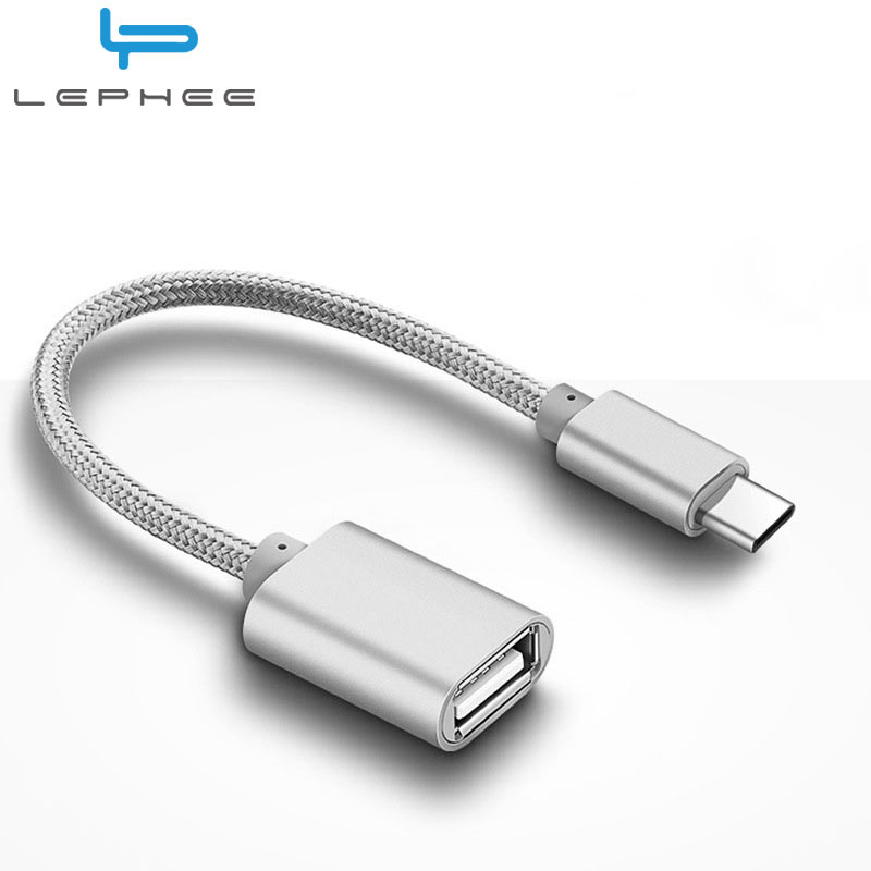 lephee usb type c to usb otg cable adapter otg type c charger cable usb c converter for samsung. Black Bedroom Furniture Sets. Home Design Ideas