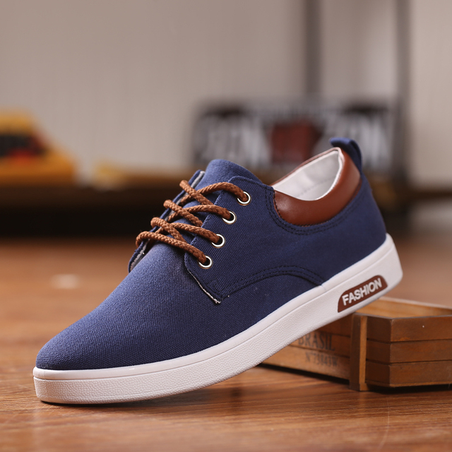 87f4271016481 2016 Spring Canvas Shoes Men Casual Shoes New Hot Fashion Students Casual  Man Solid Tenis Mens Lace-up Schuhe Zapatos Hombre