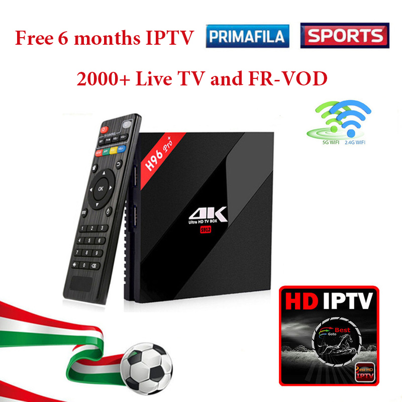 H96 Pro plus tv box android 7.1 4K HD WiFi BT Smart Media Player Arabic IPTV Box Free 6 months French Belgium Europe Sports IPTV promoitalia пировиноградный пилинг pro plus пировиноградный пилинг pro plus 50 мл 50 мл 45%