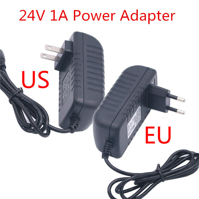 Power Adapter Supply DC 24V 1A Universal Charge Adaptor 110 220 V 24 V EU US Plug Swiching Adapter For 5050 3528 Led Strip Light in AC DC Adapters from Home Improvement