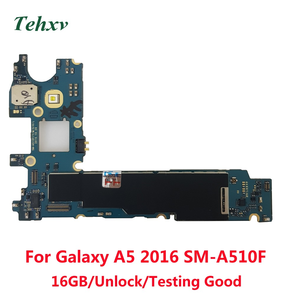 Tehxv  Motherboard For Samsung Galaxy A510F A5 2016 16GB Unlocked Mainboard Unlock title=