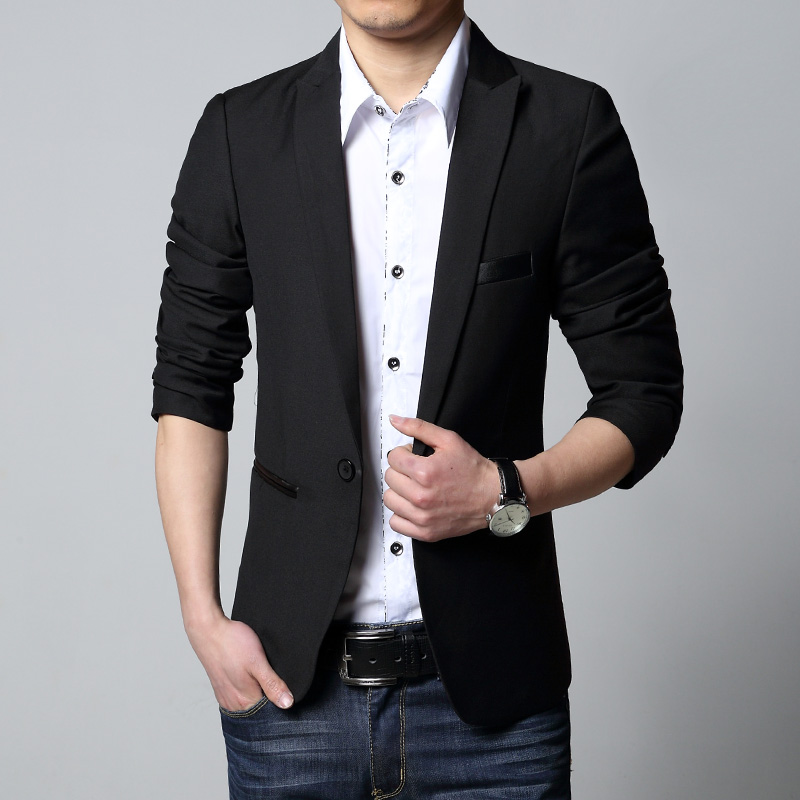 Black Casual Suit Jacket - Suit La