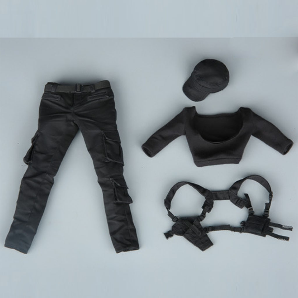 1/6 Scale Female Combat Uniforms Pants Vest Hat Clothing Suit Set for 12'' Hot Toys/Phicen/Kumik Action Figure Doll Accessories 1 6 scale star wars female clothes rey costume combat uniforms girl clothing for 12 inches action figure body