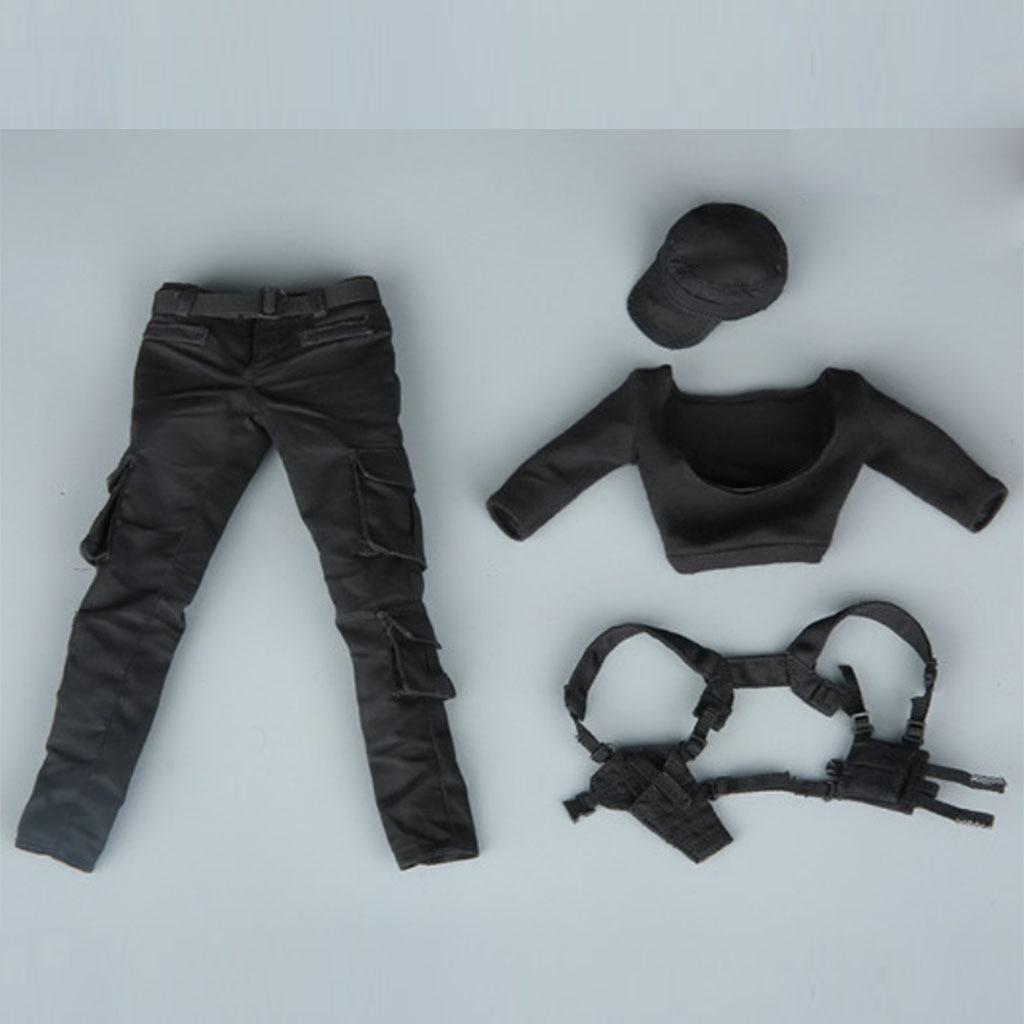 1/6 Scale Female Combat Uniforms Pants Vest Hat Clothing Suit Set for 12'' Hot Toys/Phicen/Kumik Action Figure Doll Accessories цена
