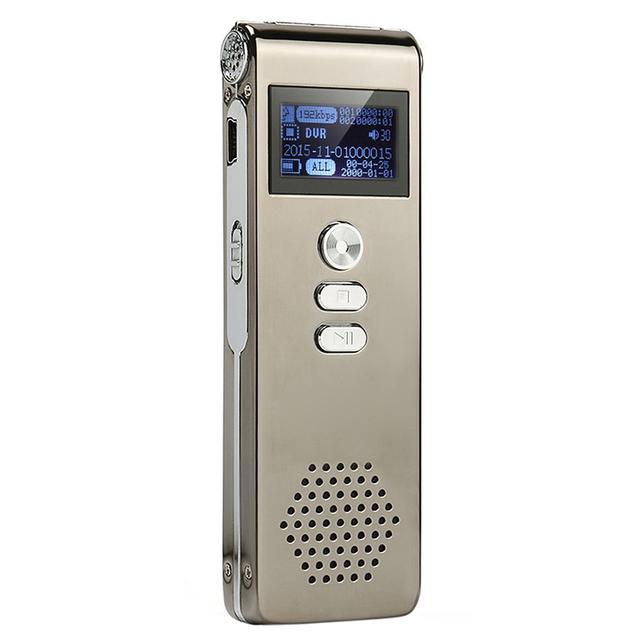 CP0260 ALISTEN Grabadora de Voz Digital de 8 GB Recargable Dictáfono Audio Recorder Reproductor MP3 para Grabar Las Entrevistas