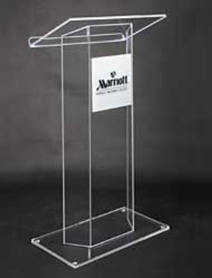 Free Shipping Acrylic High Quality Acrylic Pulpit Church Platform Logo Customize