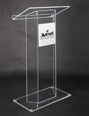 Free Shipping Acrylic High Quality Acrylic Pulpit Church Platform Logo Customize
