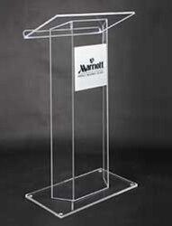 Gratis Verzending acryl Hoge kwaliteit acryl preekstoel kerk platform logo aanpassen