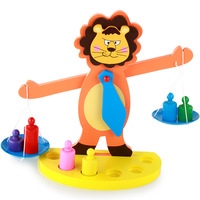 Baby Montessori Toys Wooden Lion Rainbow Balance Blocks Toys Colorful Early Math Early Ed Children Gift Toys For Children
