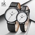 Shengke часы Лидирующий бренд Роскошные парные часы для женщин и мужчин модные кожаные водонепроницаемые любимые часы Reloj Relogio Saat Montre