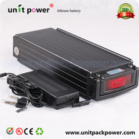 Super Power Rear Rack Lithium Battery 48v 18Ah For Ebike Charger Electric Bicycle Battery