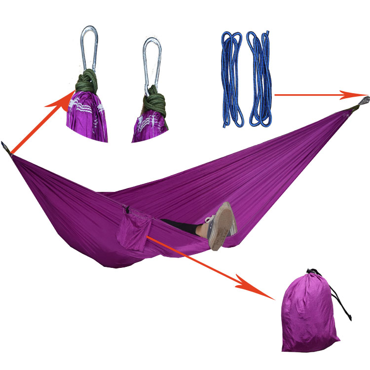 1 People Portable Parachute Hammock Camping Survival Garden Flyknit Hunting Leisure Hamac Travel Double Person Hamak double people hammock camping survival garden hunting swing leisure travel double person portable parachute outdoor furniture