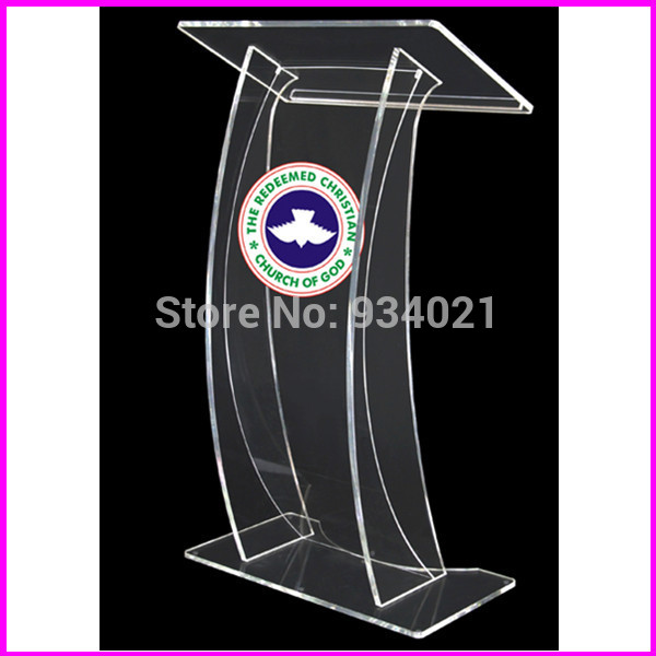 Free Shipping Church Podium, Acrylic Plastic Pulpit, Church Pulpit Designs Plexiglass